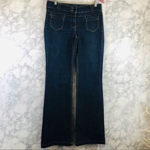 Women's Jeans Low Rise Flare Leg SZ 4 Tall EUC